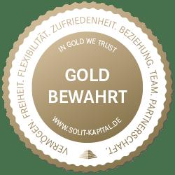SOLIT Wertefonds - Gold Bewahrt Siegel