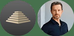 SOLIT Wertefonds - Marc Friedrich Portaitbild und SOLIT Pyramide