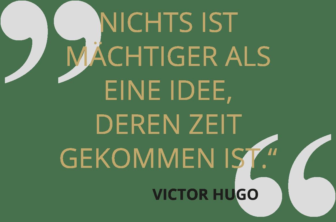 SOLIT Wertefonds - Zitat zum Thema Idee - Victor Hugo